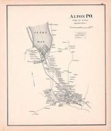 Alton Town, New Hampshire State Atlas 1892 Uncolored